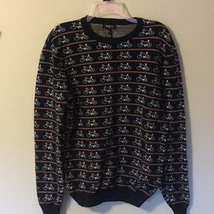Forever 21 size large bicycle sweater